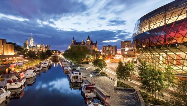 Vista di Ottawa, la capitale del Canada.