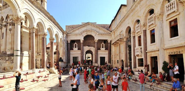 Palazzo di Diocleziano a Spalato.