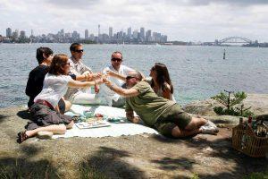 Un picnic sul mare a Sydney.