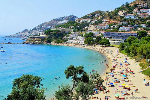 Spiaggia in Costa Brava, Spagna