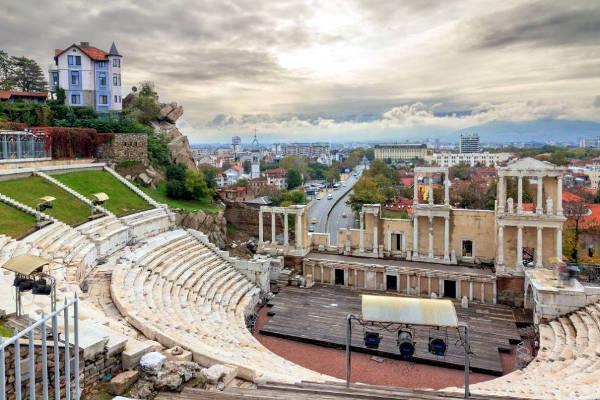 Plovdiv, il teatro romano di Filippopoli.