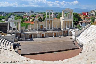 Plovdiv, il teatro romano di Filippopoli in Bulgaria.
