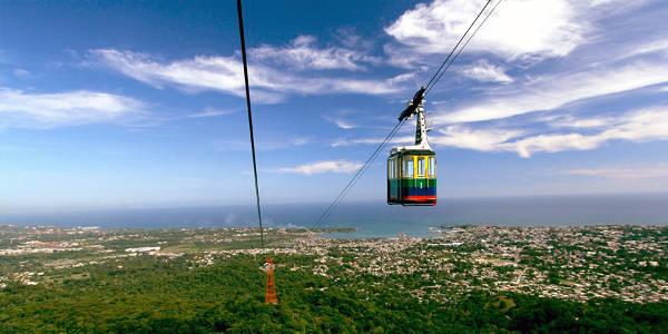 La funivia a Puerto Plata per salire sul monte Isabel de Torres, dove si trova il Cristo Redentore.