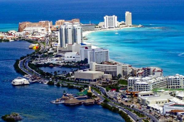 Hotel nella zona turistica messicana di Quintana Roo.