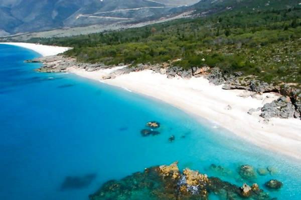 Riviera albanese, costa dell'Albania.
