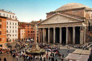 Il Pantheon di Agrippa a Roma.
