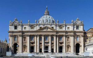 La Basilica di San Pietro a Roma, in Vaticano.