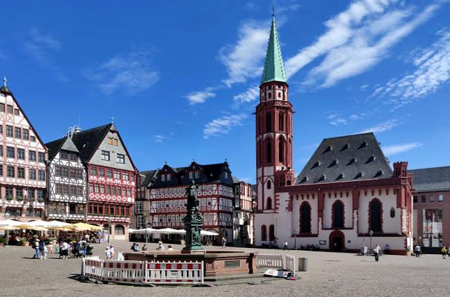 Romerberg, la Piazza del Municipio di Francoforte sul Meno.