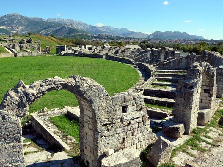 anfiteatro romano a Salona, Spalato.