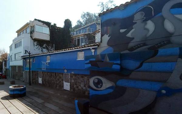 La Chascona, casa museo di Pablo Neruda a Santiago.