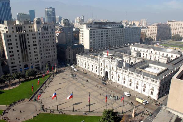 Da vedere a Santiago, il palazzo che ospita il presidente della Repubblica del Cile.