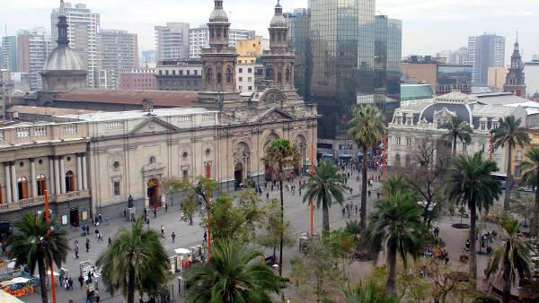 Plaza de Armas, il centro di Santiago del Cile.