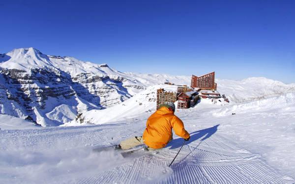 Valle Nevado, località di montagna per sciare vicino Santiago.