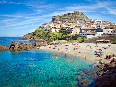 Castelsardo nel nord della Sardegna.