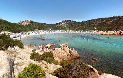 Spiaggia del Principe, Arzachena, nel nord della Sardegna.