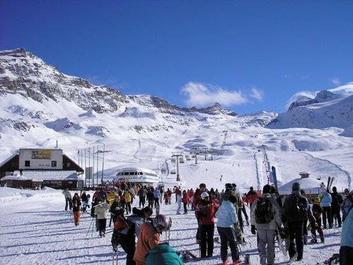 Sciare a Cervinia.