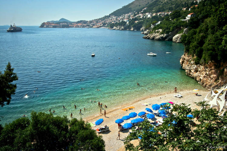 Spiaggia di Sveti javok a Dubrovnik.