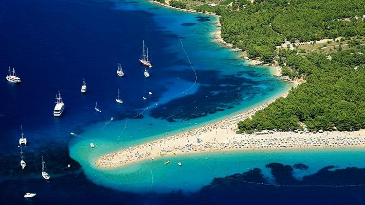 Zlatni Rat, isola di Brac in Croazia.