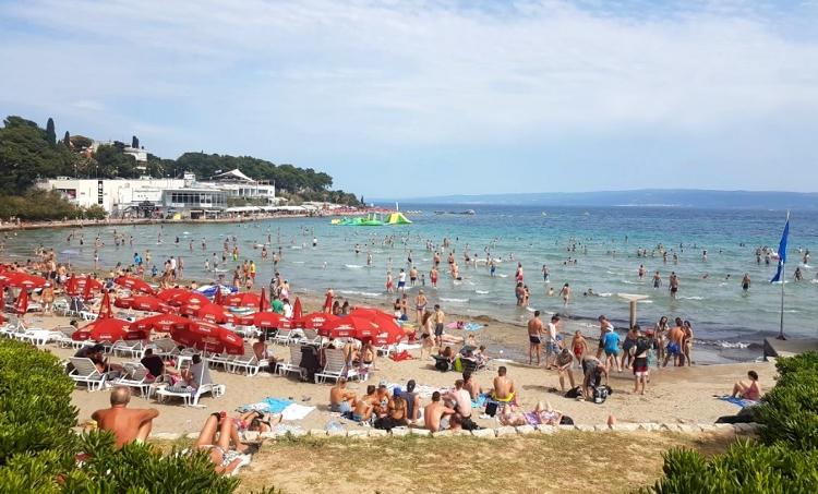 Spiaggia di Bacvice a Spalato.