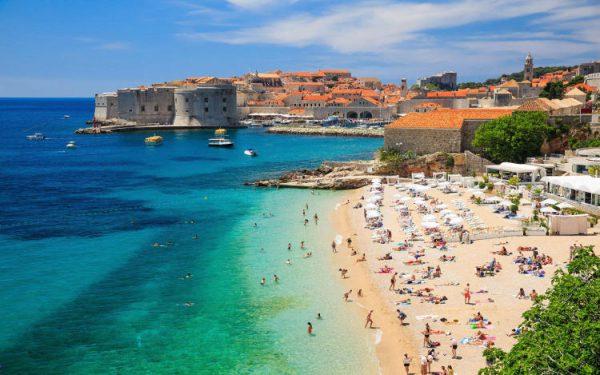 Spiaggia in Croazia, Banje a Dubrovnik.