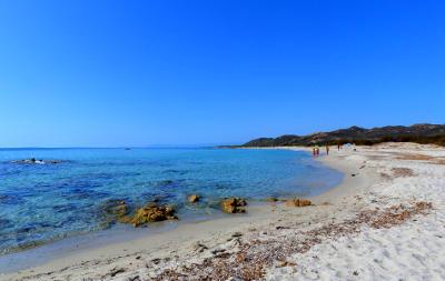 La spiaggia di Berchida sulla costa est in Sardegna.