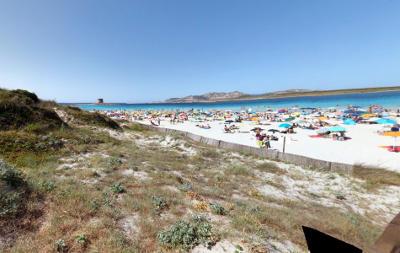 Spiaggia La Pelosa vicino Stintino, nord della Sardegna.