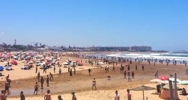 La spiaggia di Mohammedia vicino Casablanca.