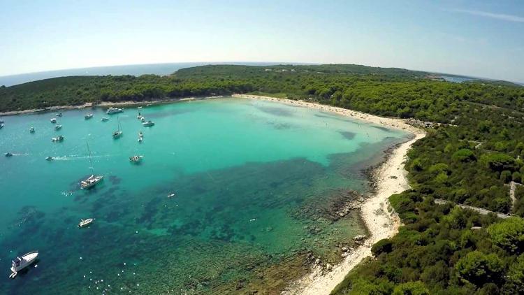 Spiaggia di Sakarun in Croazia.