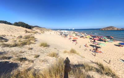 La spiaggia Su Giudeu nel sud Sardegna, vicino Cagliari.