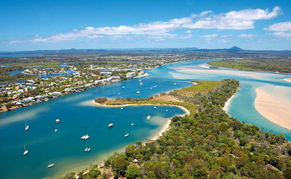 Le spiagge della Sunshine Coast in Australia.