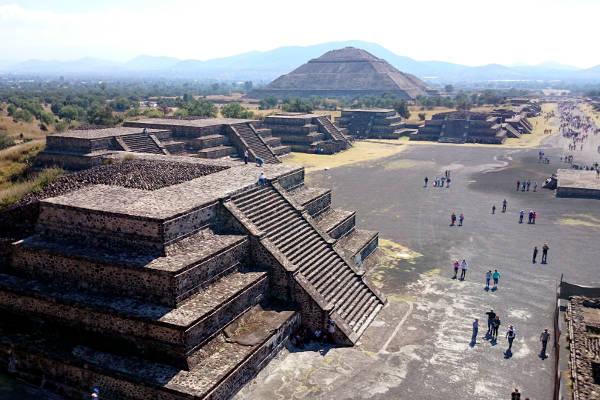 sito archeologico azteco di teotihuacan in Messico.