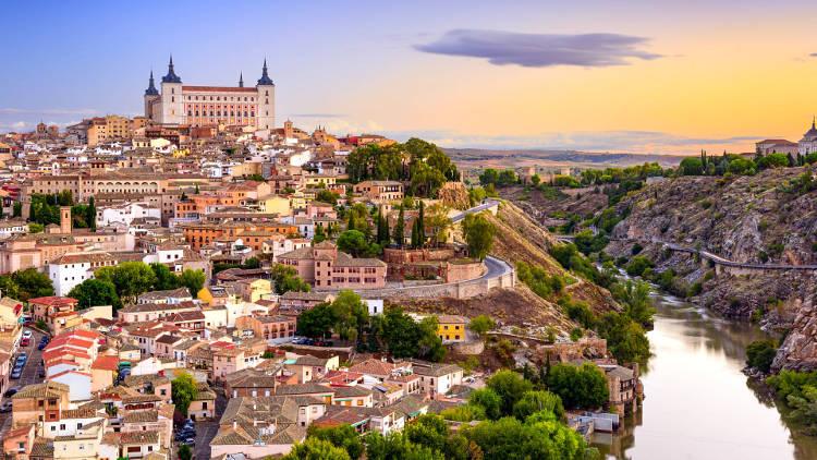 La bellissima città di Toledo in Castiglia, nella Spagna centrale.