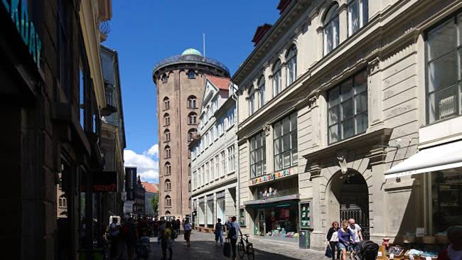 La Torre Rotonda di Copenhagen nel centro della capitale danese.