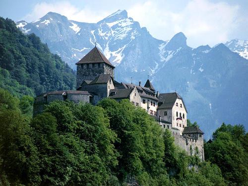 Il castello di Vaduz in Liechtenstein.