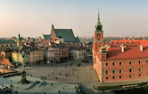 Varsavia, la capitale della Polonia.