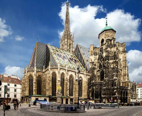 La cattedrale di Santo Stefano a Vienna.