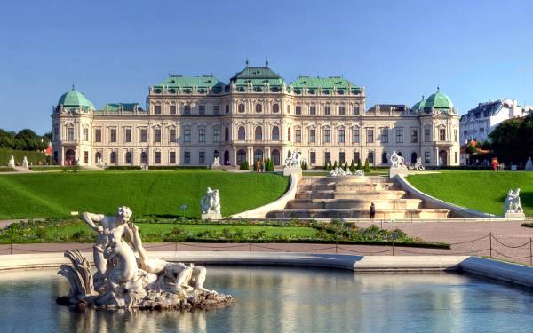 Uno dei luoghi da vedere a Vienna, il Palazzo Belvedere.