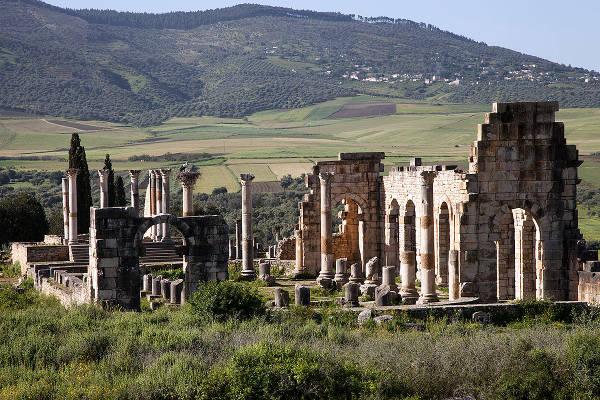 Le rovine romane di Volubilis.