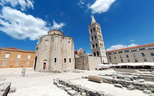 La chiesa di San Donato a Zara in Croazia.