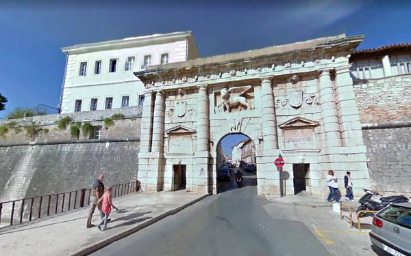 La Porta di Terra delle mura di Zara costruita dai Veneziani.